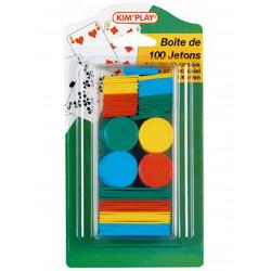 BOITE DE 100 JETONS PLASTIQUES