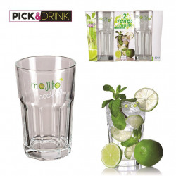 LOT DE 2 VERRES A MOJITOS