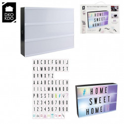 BOITE DECO LUMINEUSE 85 LETTRES FORMAT A4