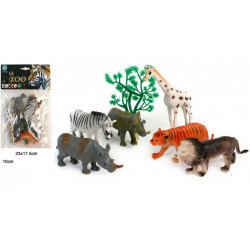 SACHET ANIMAUX DE LA JUNGLE 10 CM