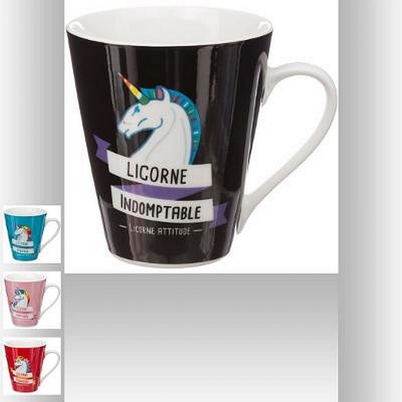 MUG CONIQUE LICORNE 30 CL