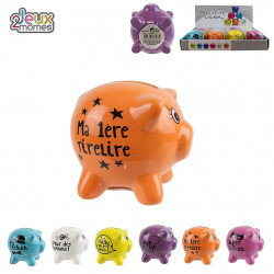 TIRELIRE COCHON MESSAGE EN CERAMIQUE 7 CM
