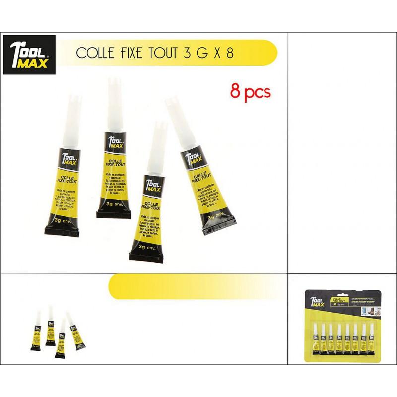 LOT 8 TUBES DE COLLE FIXE TOUT 3 GR