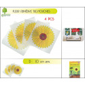 4 PIEGES A MOUCHES ADHESIFS FORME TOURNESOL