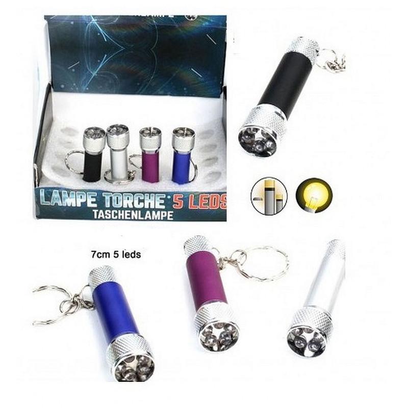 PORTE CLES LAMPE 5 LEDS 7 CM