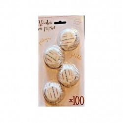 Carte de 100 Moules à Muffin en Papier