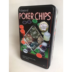 COFFRET METAL 100 JETONS DE POKER