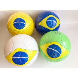 BALLON DE FOOT SIMILI CUIR BRESIL 23 CM