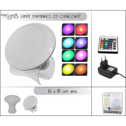 LAMPE D'AMBIANCE A LED COULEUR CHANGEANTE