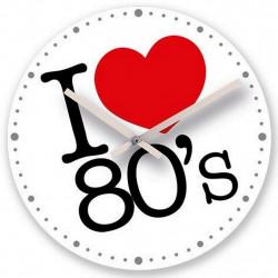 HORLOGE MURALE I LOVE 80 / 30 CM