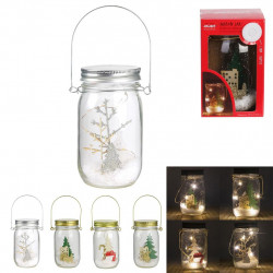 MASON JAR LED DECO NOEL