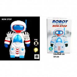 ROBOT SONORE ET LUMINEUX 19 CM