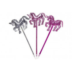 STYLO BILLE LICORNE SEQUIN STRASS