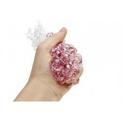 BALLE SQUISHY CERVELLE ANTI-STRESS PAILLETTES 6.5 CM