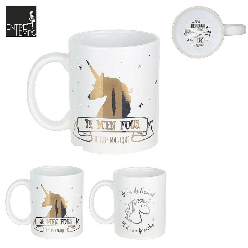 MUG LICORNE CERAMIQUE 350 ML