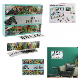BOITE A MESSAGE LUMINEUSE ANIMAUX EXOTIC