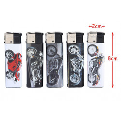 BRIQUET RECHARGEABLE DECOR MOTO