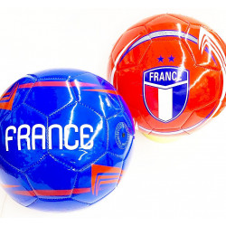 BALLON DE FOOT FRANCE SIMILI CUIR 23 CM 2 ETOILES