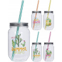 MASON JAR 50 CL PVC INCASSABLE DECO SUMMER