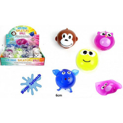 BALLE SPLATCH ANIMAUX RIGOLOS 6 CM