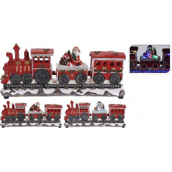 TRAIN DE NOEL FIXE A LED 39*11*17 CM