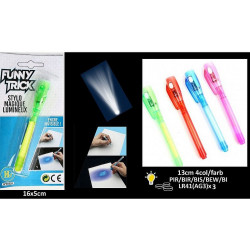 STYLO LUMINEUX ENCRE INVISIBLE