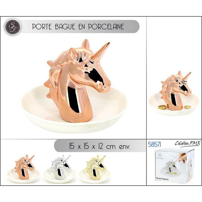 PORTE BAGUE PORCELAINE 15 CM