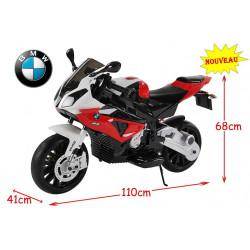 MOTO ROUGE BMW ELECTRIQUE