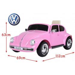 VW BEETLE PORTEUR ROSE ELECTRIQUE